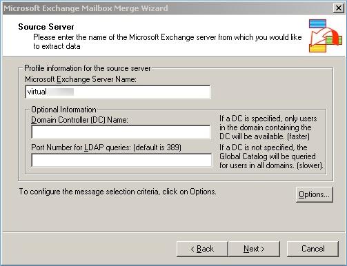 Exchange Server name
