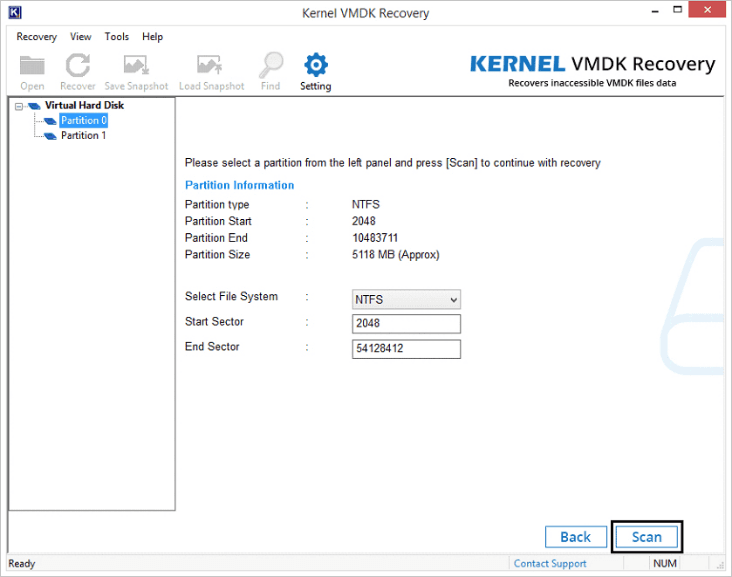 Select the specific partition