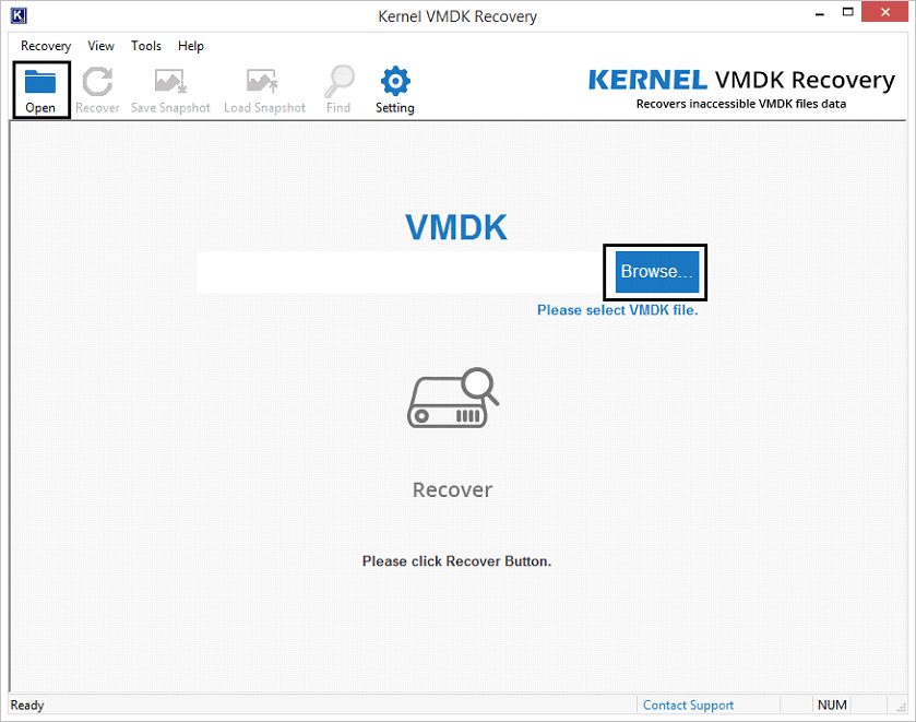 Launch Kernel VMDK Recovery