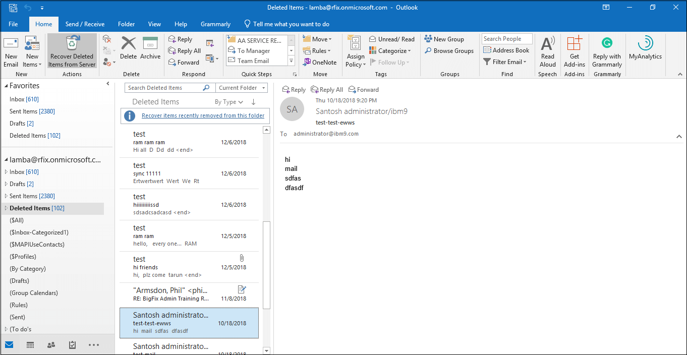 How to Recover Deleted Contacts in Office 365?