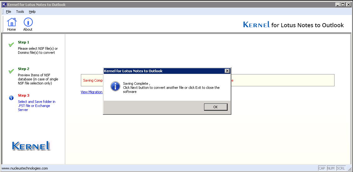 Lotus Notes to Exchange migration done successfully