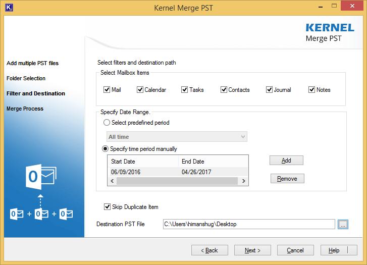 Set filter option