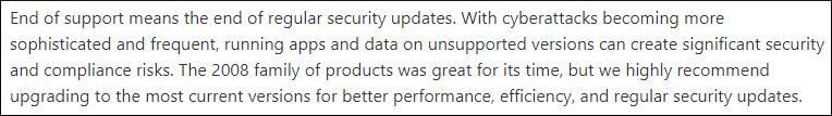 regular & security updates