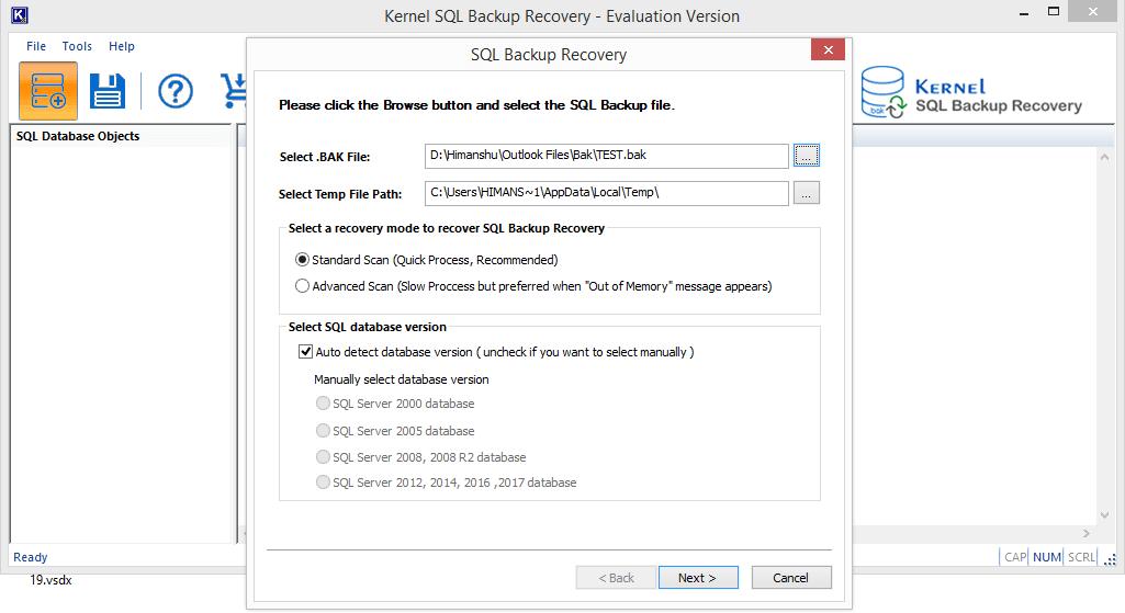 select the SQL Server version