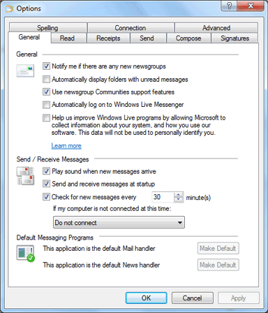 Open Windows Live Mail tool