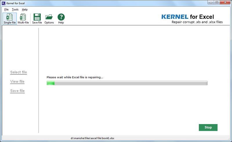 repair the file