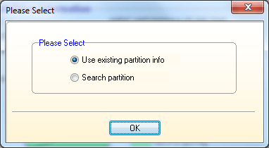 Select partition info
