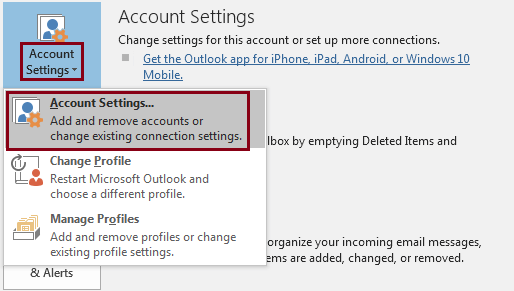 Click on the Account Settings