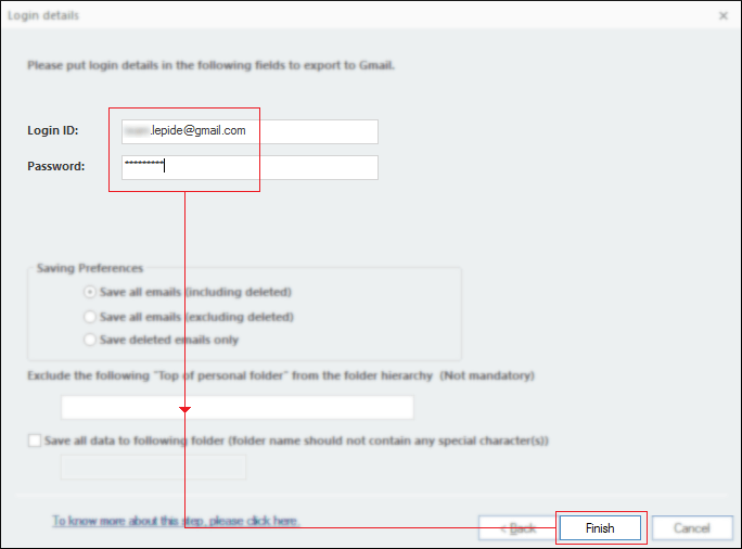 Enter Gmail login ID and password