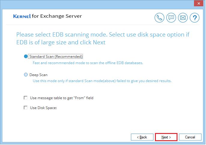 Select Scanning Mode