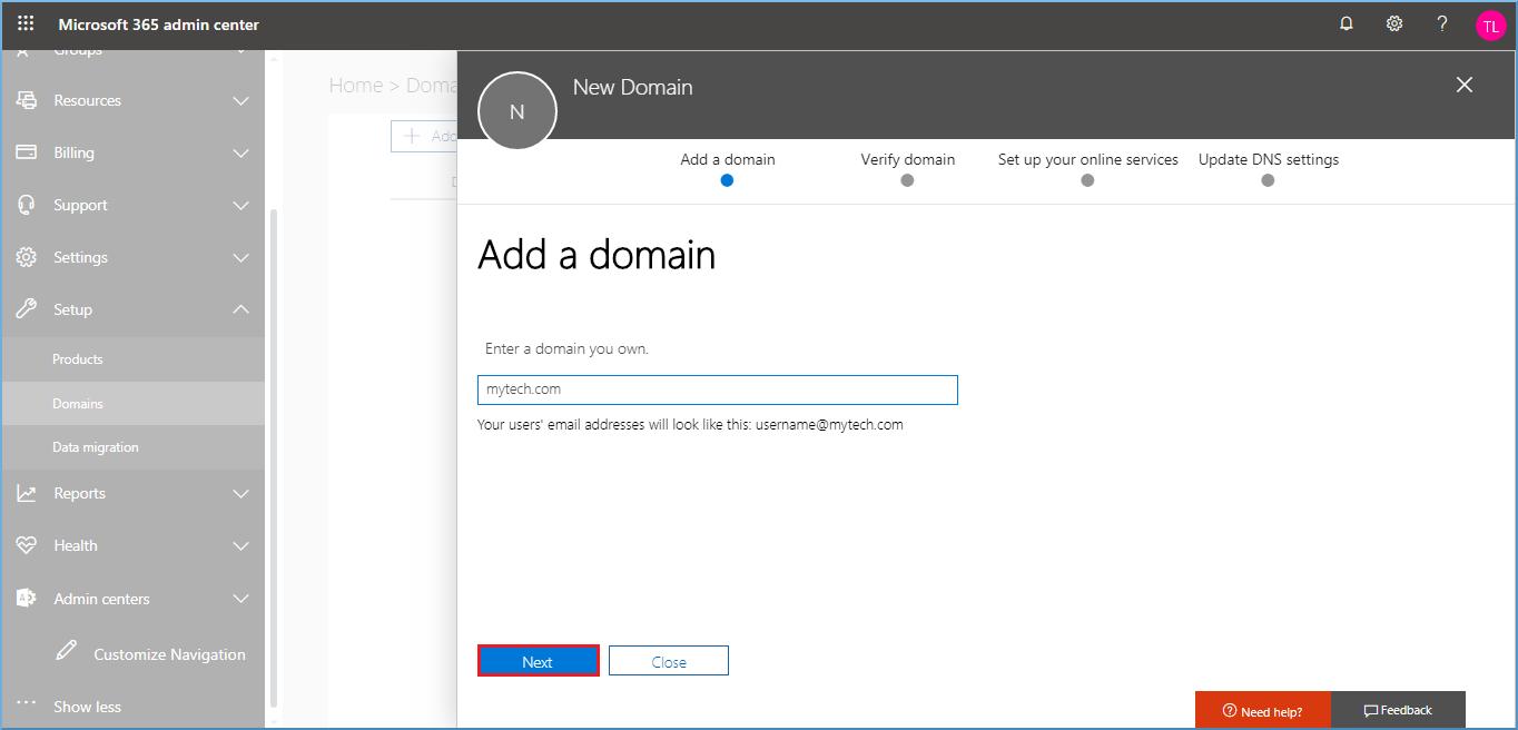 Provide a domain name