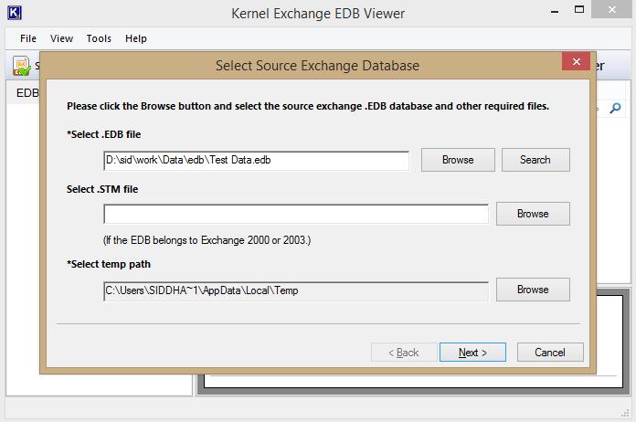 Launch Kernel EDB Viewer