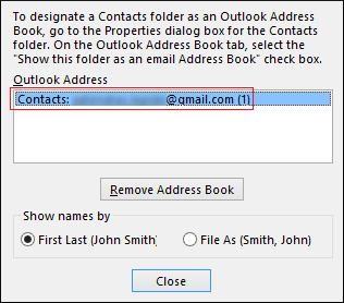 address book highlighted