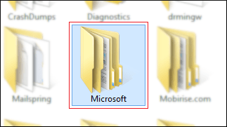Windows 10 App Data folder