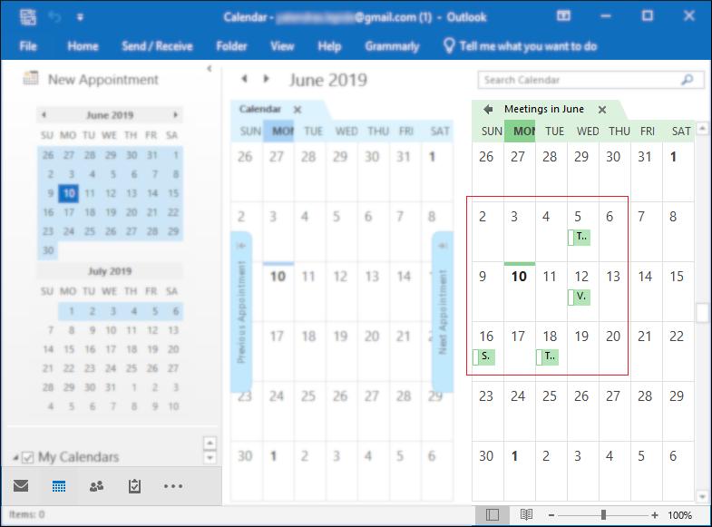 final Google Calendar