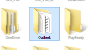 Search Outlook folder