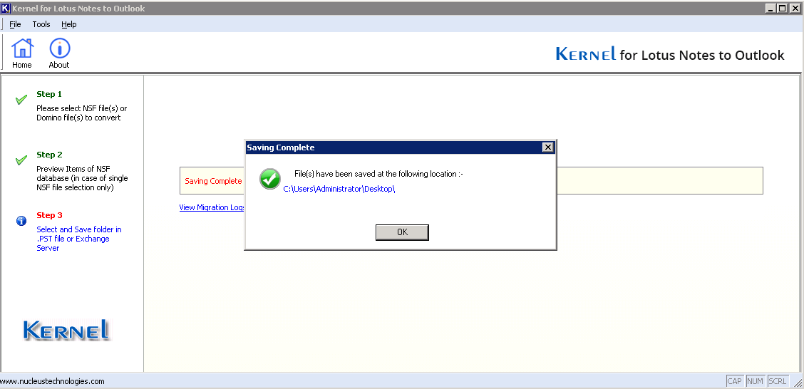 Lotus Notes to Outlook Migration process will start