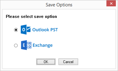 Select PSt file as a saving option