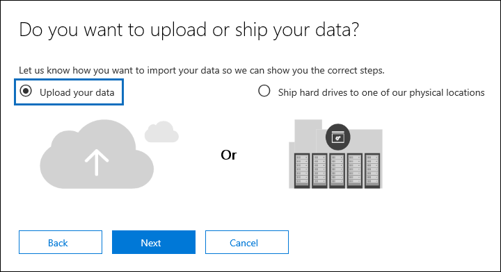 select Upload your data