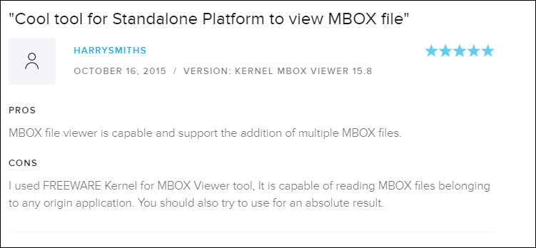 Positive Review of MBOX Viewer