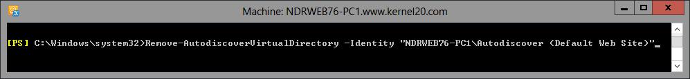 Remove Autodiscover virtual directory