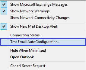 Test Email AutoConfiguration option