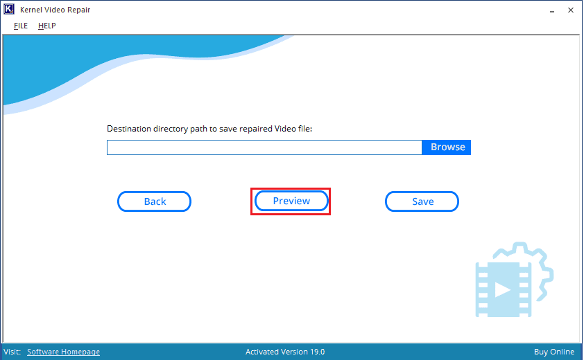 preview repaired video file