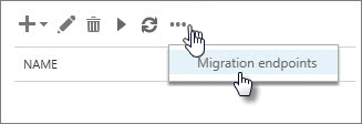 Select migration endpoint