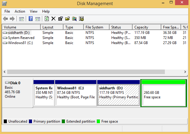 Open the Disk Management tool
