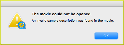 Movie could not be opened