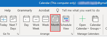 select Monthly Calendar