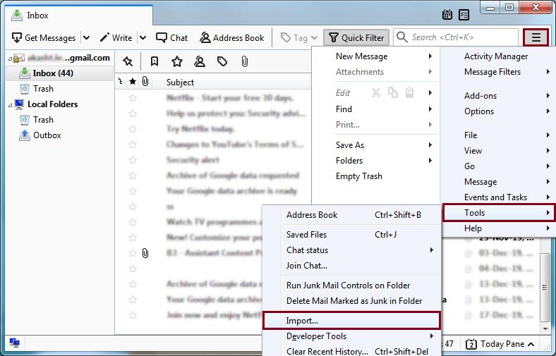 Open Thunderbird Email Client