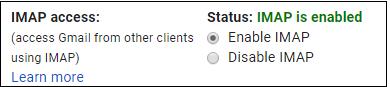 Enable IMAP access
