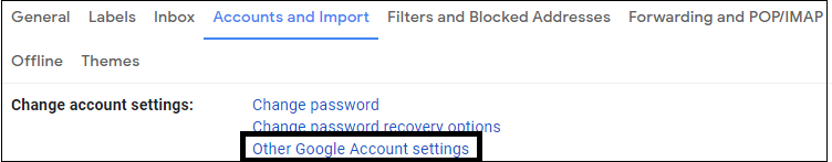 Import other Google account