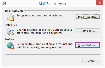 Select Mail option