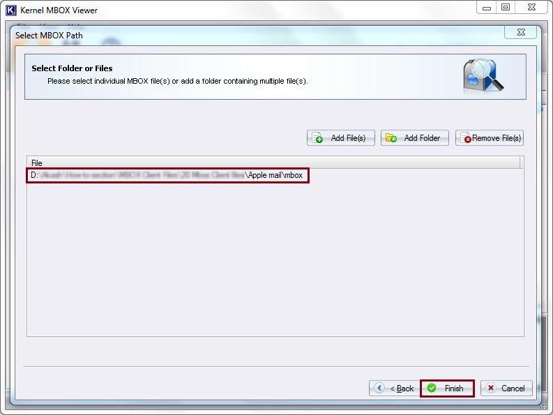 Add MBOX files