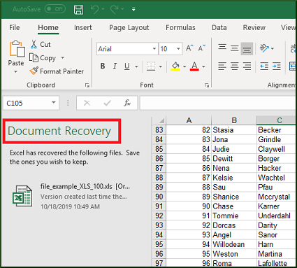 How To Recover Unsaved Or Overwritten Excel Files
