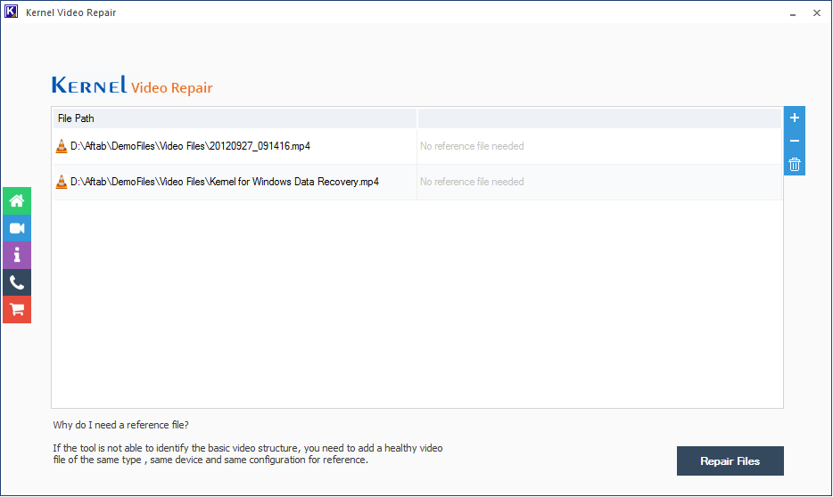 Click the Repair Files
