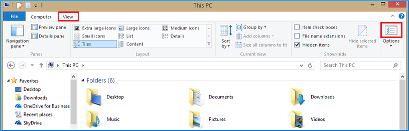 unhide the file and folders