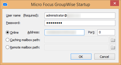 Enter login credentials of GroupWise account