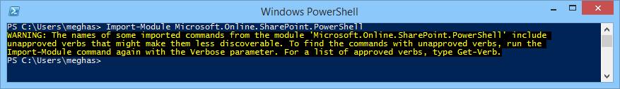 import the Windows PowerShell module