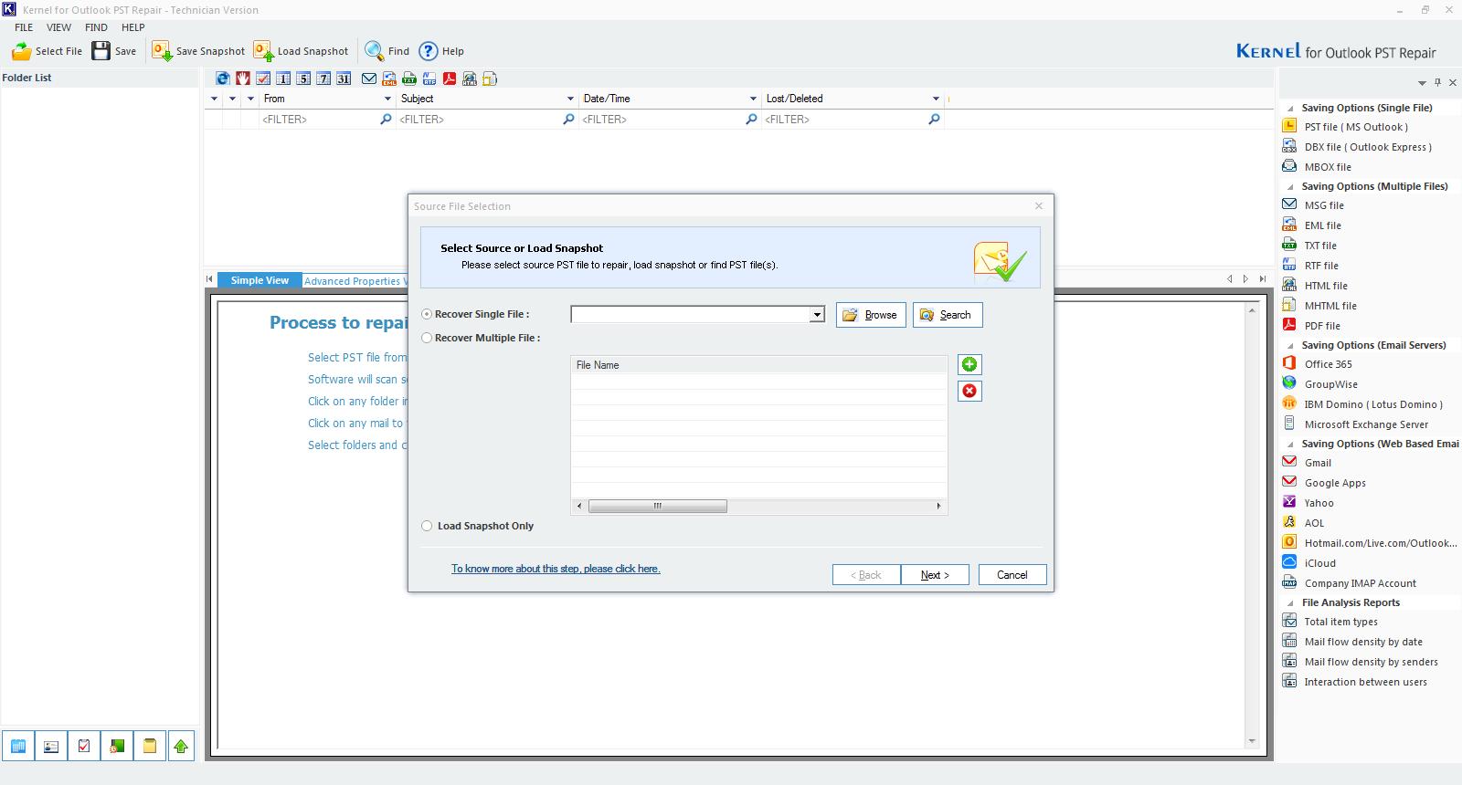Open Kernel for Outlook PST Repair