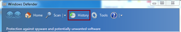 Go to History tab