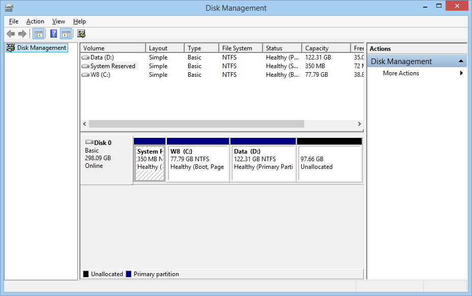 select the Disk Management option