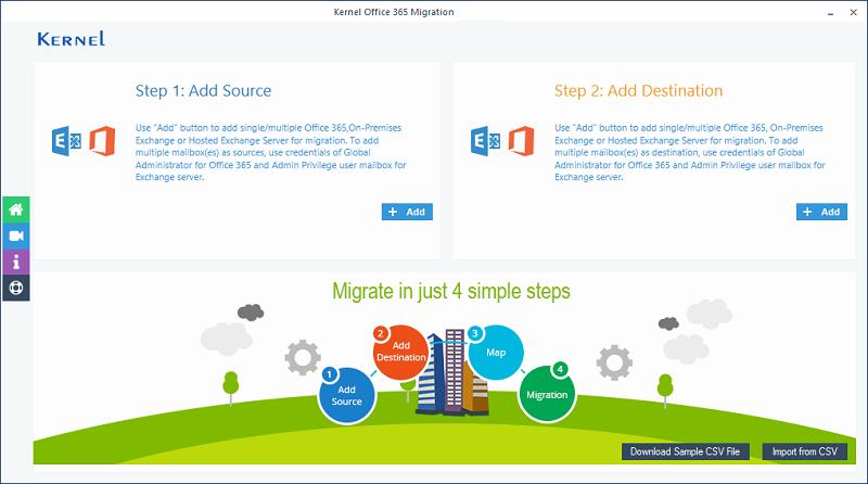 Kernel Office 365 Migration tool