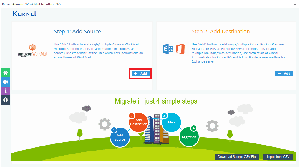 Amazon WorkMail to Office 365