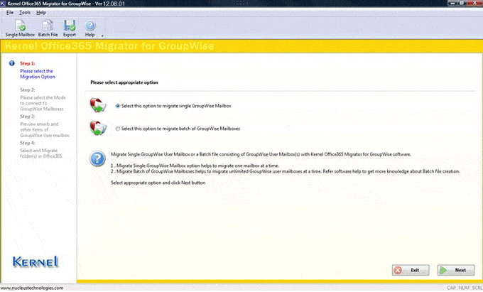 Office 365 Migrator for GroupWise