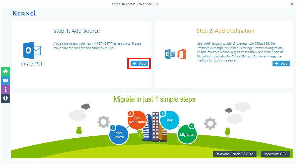 Import PST to Office 365 tool