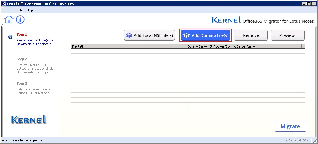 Office 365 Migrator for Lotus Notes