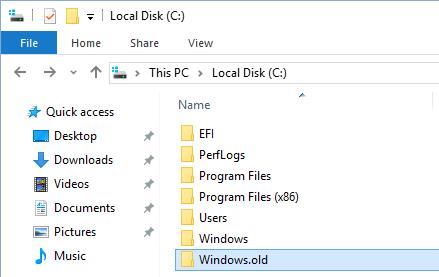 Click on Windows.old